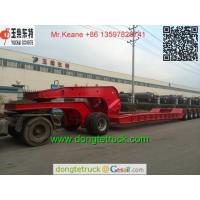 Quality 5 axles Hydraulic Detachable Gooseneck Lowbed Trailer wholesale