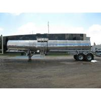 Quality Double Conical Dual Axle Aluminum Crude Oil Tanker wholesale