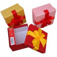 Buy cheap Art paper gift box with Ribbon bow from wholesalers
