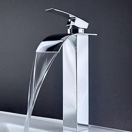 Quality Single Handle Waterfall Bathroom Sink Basin Faucet Mixer Tap ...
