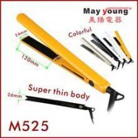Quality Hair straightener M525 Best price LCD display hair flat iron in titanium coating wholesale