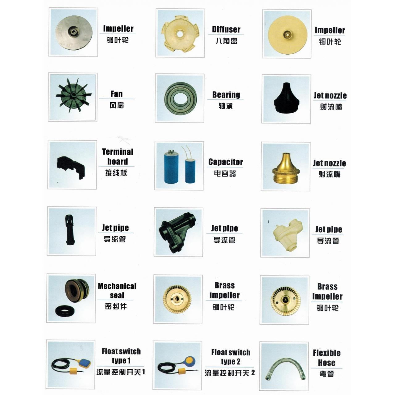Buy cheap Water Pump Spare Parts from wholesalers