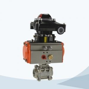 Cheap Stainless steel clamped sanitary 3 way ball valve Model: JN-BLV2004 for sale
