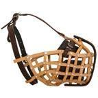 Quality Police Style Basket Leather Dog Muzzle for Attack Training wholesale