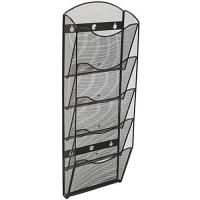 China 5 Tier Literature Rack for Wall Mount, Fits 8.5x11 & 4x9, Mesh - Black on sale