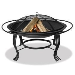 China Black Outdoor Firebowl with Outer Ring