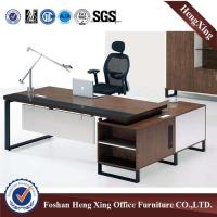 China Luxury Conner curved solid wood furniture executive desk & veneer office desk HX-5DE336 on sale