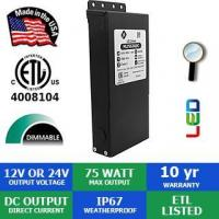 Quality 12VDC or 24VDC 75 Watt Max Deluxe Magnetic LED Dimmable Transformer wholesale