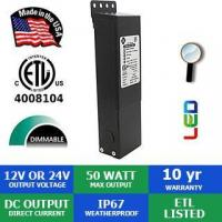 Quality 12VDC or 24VDC 50 Watt Max Deluxe Magnetic LED Dimmable Transformer wholesale