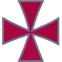 Quality Christian Embroidery Designs Maltese Cross #3 wholesale