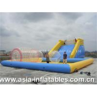 Quality Inflatable Zorb Ramp and Water Pool Combo wholesale
