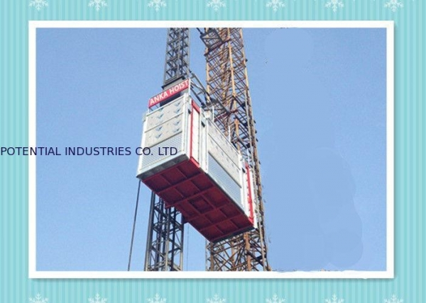Cheap Personnel And Material Construction Elevator Hoist In Single And Twin Cage for sale