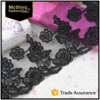 China 2016 trimming lace, cotton embroidery lace, custom embroidery lace trim NLC-085 on sale