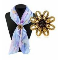 China Hot sale antique scarf brooch pin women flower pin on sale