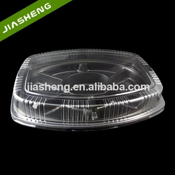 Cheap 7 Compartments PP Black Disposable Plastic Food Blister Packaging Tray With ...