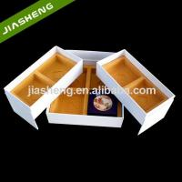 China China Gold Square Plastic Flocking Tray/Box For Moon cake/dessert with 4 compartments on sale