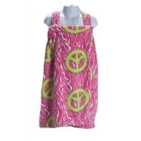 China Bed In A Bag Pink Zebra Print Peace Jr. Bath Wrap on sale