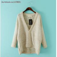 China J7-8007(A3-3-3C)Casual sequined cardigan sweater mohair sweater on sale