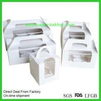 China Single Clear Cupcake Boxes with Inserts for Packaging on sale