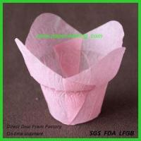 China Large Printed Paper Tulip Cupcake Liners on sale