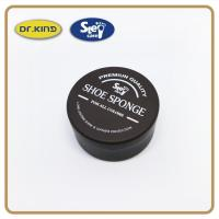 Buy cheap Cleaning supplier Round metal box neutral color shoe sponge applicators reasonable price shoe polish from wholesalers
