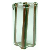 Buy cheap Brown/Green Square Striped Mdrn Vase BDHB491 from wholesalers