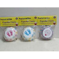 China Cupcake Liner Baby Shower 48pk on sale