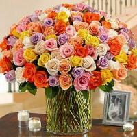 Quality 100 Roses in a Vase NO.55 delivery flower to china wholesale