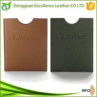 China Slim Leather Cover RFID Passport Sleeve For Unisex on sale