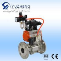 Quality 3PC Flange Ball Valve with Pneumatic Actuator and Accesories wholesale