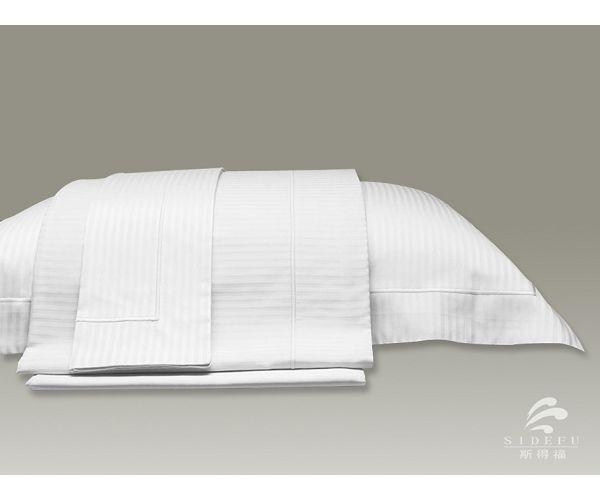 Five Star Hotel 1cm Satin Stripe Hotel Pillow Case 48865418