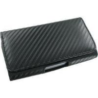 Quality Carbon Fiber Horizontal Leather Carrying Pouch for Motorola Flipside MB508 wholesale