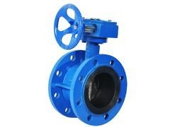 China Worm Gear Operated Flange Butterfly Valve