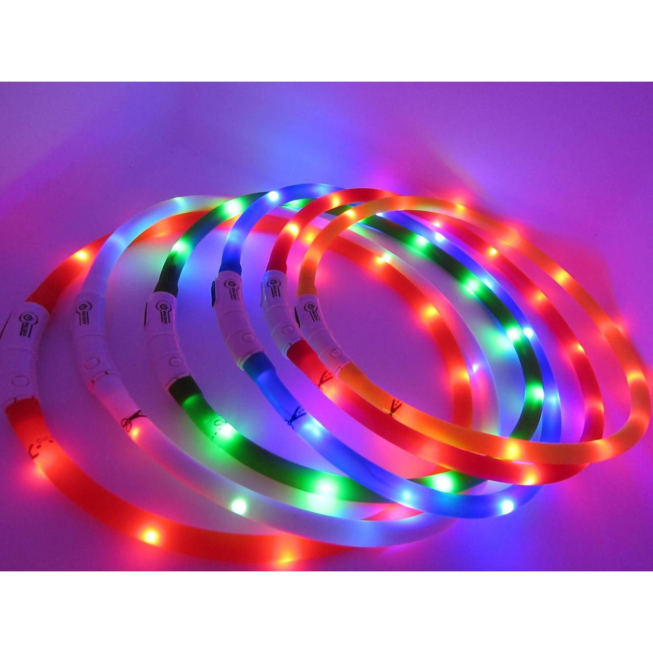 Buy cheap Adogo LED Dog Collar Rechargeable USB Safety Flashing Band Belt from wholesalers