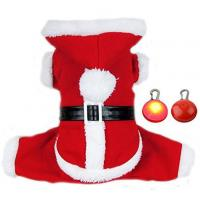 Quality Adogo Puppy Doggie Christmas Suit Coat Pet Dog Santa Costume Outfit With a Christmas Gifts wholesale