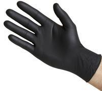 Quality Powder-Free 4 mil Black Nitrile Gloves wholesale