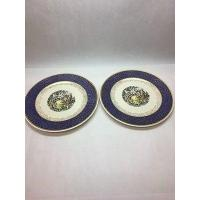 China PAIR Vintage Porcelain Encrusted 22K-Gold Charger Plate Royal China USA ca.1930s on sale