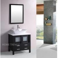 Quality Small single bathroom furniture storage wood floor cabinet sink 053 wholesale