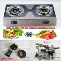 Quality RD-GD124 hot sale double burner Stainless steel gas stove gas cooktop table gas cooker wholesale