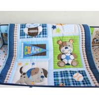 Owl bird quilt baby quilt wholesale china colorful circle dots 5pcs