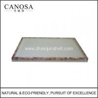 Quality Hotel Resin Amenity Tray with Pink Shell wholesale
