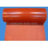 Quality Silicone Rubber Coated Glass Fiber Fabric Cloth , Heat Resistant Silicone Impregnated Cloth wholesale
