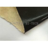 Quality Black Color Fluorin Coated Fiberglass Fabric , PTFE Coated Fiberglass Cloth wholesale