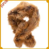 China Camel special desgin fox fur scarves on sale