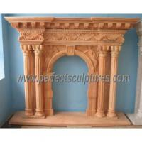 Marble Fireplace for Stone Mantel (QY-LS274)