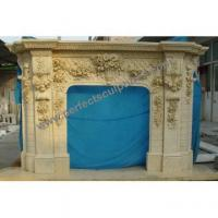 Stone Marble Fireplace Surround for Mantel (QY-LS389)