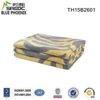 China Woven Striped King Size Thick and Heavy 50% Wool 50% Acrylic Blended Blanket on sale