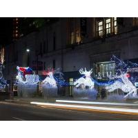 China led outdoor christmas light reindeer and sleigh 3d motif lights on sale