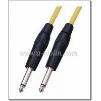 Buy cheap 6.35mm copper jack mono to mono nickel plated Guitar cable product