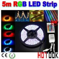 China RGB 36W 5M 5050 150LEDs waterproof LED strip + Remote control on sale